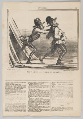 """Honoré Daumier (French, 1808-1879). """"Pauvre Giulay!....,"""" June 27, 1859. Lithograph on newsprint, Sheet: 17 1/16 x 11 3/4 in. (43.3 x 29.8 cm). Brooklyn Museum, Gift of Shelley and David Garfinkel, 1996.225.114"""
