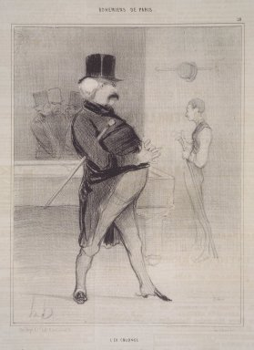 Honoré Daumier (French, 1808-1879). The Ex-Colonel (L'Ex Colonel), April 17, 1842. Lithograph on newsprint, Sheet: 13 13/16 x 10 1/16 in. (35.1 x 25.6 cm). Brooklyn Museum, Gift of Shelley and David Garfinkel, 1996.225.12