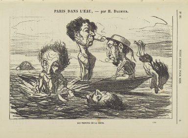 Honoré Daumier (French, 1808-1879). Les Tritons de la Seine. Gillotage, 11 3/4 x 9 3/8 in. (29.8 x 21.3 cm). Brooklyn Museum, Gift of Shelley and David Garfinkel, 1996.225.153