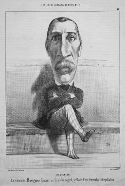 Honoré Daumier (French, 1808-1879). Buvignier, May 10, 1849. Lithograph on newsprint, Sheet: 13 11/16 x 8 11/16 in. (34.8 x 22.1 cm). Brooklyn Museum, Gift of Shelley and David Garfinkel, 1996.225.19