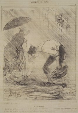 Honoré Daumier (French, 1808-1879). The Mud Lark (Le Ravageur), January 9, 1842. Lithograph on newsprint, Sheet: 13 3/4 x 10 in. (34.9 x 25.4 cm). Brooklyn Museum, Gift of Shelley and David Garfinkel, 1996.225.2
