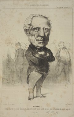 Honoré Daumier (French, 1808-1879). Bugeaud, June 8, 1849. Lithograph on newsprint, Sheet: 12 15/16 x 8 1/16 in. (32.8 x 20.5 cm). Brooklyn Museum, Gift of Shelley and David Garfinkel, 1996.225.27