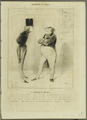 Honoré Daumier (French, 1808-1879). Les Comédiens de Province, March 16, 1842. Lithograph on newsprint, Sheet: 13 3/4 x 10 1/16 in. (35 x 25.5 cm). Brooklyn Museum, Gift of Shelley and David Garfinkel, 1996.225.29