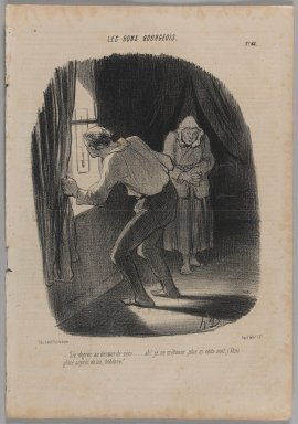 Honoré Daumier (French, 1808-1879). Six Degrés au Dessous de Zéro..., February 1, 1847. Lithograph on newsprint, 14 3/8 x 10 in. (36.5 x 25.4 cm). Brooklyn Museum, Gift of Shelley and David Garfinkel, 1996.225.32