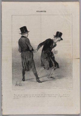 "Honoré Daumier (French, 1808-1879). ""Vous, mon ami!  Comment vous savez que je suis veuf...,"" May 28, 1842. Lithograph on newsprint, Sheet: 14 5/16 x 9 7/8 in. (36.4 x 25.1 cm). Brooklyn Museum, Gift of Shelley and David Garfinkel, 1996.225.37"