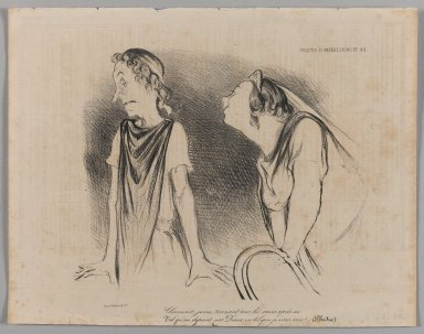 Honoré Daumier (French, 1808-1879). Charmant, Jeune, Trainant Tous les Coeurs après Soi..., February 10, 1839. Lithograph on newsprint, 10 3/4 x 13 11/16 in. (27.3 x 34.8 cm). Brooklyn Museum, Gift of Shelley and David Garfinkel, 1996.225.50