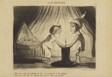 Honoré Daumier (French, 1808-1879). Mon Ami, Si Nous Nous Mettions au Lit..., June 6, 1853. Lithograph on newsprint, Sheet: 9 5/8 x 14 1/4 in. (24.4 x 36.2 cm). Brooklyn Museum, Gift of Shelley and David Garfinkel, 1996.225.81