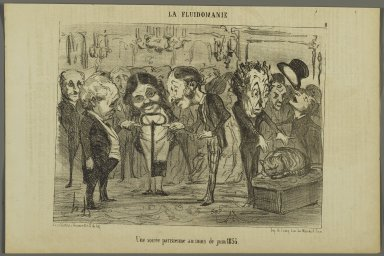 Honoré Daumier (French, 1808-1879). A Parisian Evening in the Month of June 1853 (Une soirée parisienne au mois de juin 1853), June 7, 1853. Lithograph on newsprint, Image: 7 5/8 x 10 1/4 in. (19.4 x 26 cm). Brooklyn Museum, Gift of Shelley and David Garfinkel, 1996.225.84