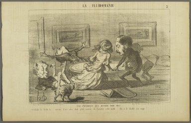 Honoré Daumier (French, 1808-1879). A Too Successful Experiment (Une expérience qui réussit trop bien), May 23, 1853. Lithograph on newsprint, Sheet: 9 1/8 x 14 1/4 in. (23.2 x 36.2 cm). Brooklyn Museum, Gift of Shelley and David Garfinkel, 1996.225.85