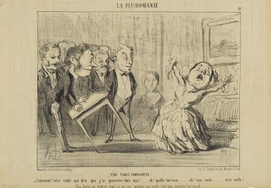 Honoré Daumier (French, 1808-1879). Une Table Indiscrète, June 15, 1853. Lithograph on newsprint, Sheet: 9 9/16 x 14 1/16 in. (24.3 x 35.7 cm). Brooklyn Museum, Gift of Shelley and David Garfinkel, 1996.225.97