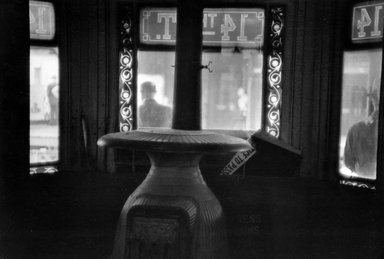 Vivian Cherry (American, born 1920). 3rd Avenue EL  (14th Street Station Window Large Stove), 1955. Gelatin silver photograph (vintage), 8 5/8 x 12 1/2 in. (21.8 x 31.7 cm). Brooklyn Museum, Gift of Steven Schmidt, 1996.241.26. © Vivian Cherry