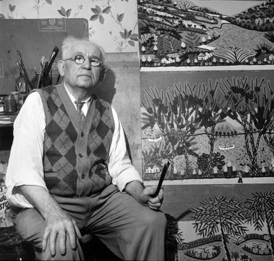 Vivian Cherry (American, born 1920). Israel Litwak (1868-1952, Brooklyn), ca. 1940. Gelatin silver photograph (vintage), 13 7/8 x 14 13/16 in. (35.4 x 37.8 cm). Brooklyn Museum, Gift of Steven Schmidt, 1996.241.39. © Vivian Cherry