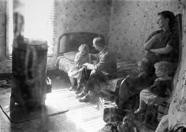 Brooklyn Museum: Coal Co. Doctor West Virginia (Doctor Visiting Patient Child)