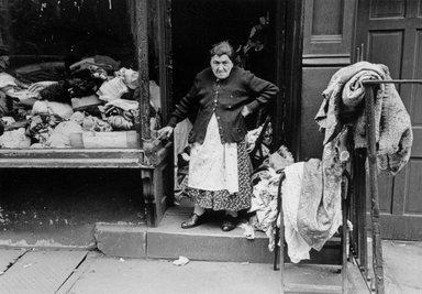 Vivian Cherry (American, born 1920). Dry Goods (Lower East Side N.Y.C), 1950s. Gelatin silver photograph, 13 x 9 in.  (33.0 x 22.9 cm). Brooklyn Museum, Gift of Steven Schmidt, 1996.241.5. © Vivian Cherry