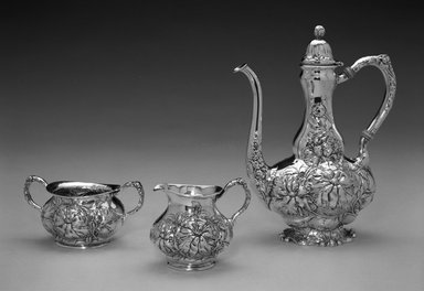 Unger Brothers (American, 1872-1919). Coffee Pot, ca. 1900. Silver, ivory, 8 1/4 x 6 5/8 x 3 1/2 in. (21.0 x 16.8 x 8.9 cm). Brooklyn Museum, Gift of Mrs. John H. Livingston, 1996.37.1. Creative Commons-BY