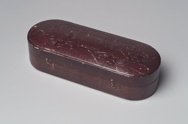 James McMurray, Brooklyn. Presentation Box, ca. 1865. Leather, satin, velvet, metal hardware, other materials, 2 1/4 x 8 1/8 x 3 3/8 in. (5.7 x 20.6 x 8.6 cm). Brooklyn Museum, Gift of Mrs. John H. Livingston, 1996.37.20. Creative Commons-BY