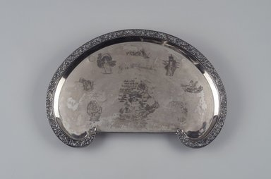 Reed & Barton (American, 1840-present). Tray, ca. 1905. Silverplate, 1 7/8 x 17 1/8 x 11 1/2 in. (4.8 x 43.5 x 29.2 cm). Brooklyn Museum, Gift of Mrs. John H. Livingston, 1996.37.7. Creative Commons-BY