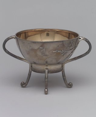 Tiffany & Company (American, founded 1853). Sugar Bowl, ca. 1875. Silver, gilt interior, 3 1/2 x 5 3/4 x 4 in. (8.9 x 14.6 x 10.2 cm). Brooklyn Museum, Gift of Mrs. John H. Livingston, 1996.37.8. Creative Commons-BY