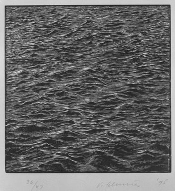 Vija Celmins (American and Latvian, born 1938). Untitled, 1995. Wood engraving on cream wove paper, Sheet: 16 x 13 7/8 in. (40.7 x 35.3 cm). Brooklyn Museum, Robert A. Levinson Fund, 1996.48. © Vija Celmins