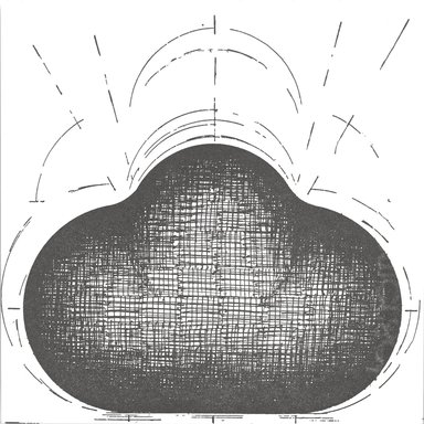 John Monti (born U.S.A., 1957). [Untitled], 1995. Letterpress on paper, sheet/image: 6 x 6 in. (15.2 x 15.2 cm). Brooklyn Museum, Alfred T. White Fund, 1996.51.17. © John Monti