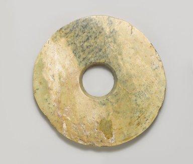 Ritual Disk (Bi). Jade (nephrite), 3/8 x 6 1/8 in. (1 x 15.6 cm). Brooklyn Museum, Gift of Robert H. Ellsworth, 1996.71.3. Creative Commons-BY