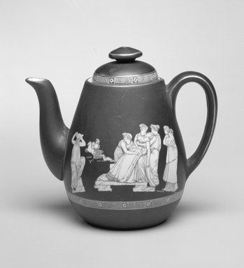 Teapot and Lid, ca. 1860. Ceramic, 6 1/4 x 7 x 4 1/2 in. (15.8 x 17.8 x 11.4 cm). Brooklyn Museum, Gift of Mrs. William Liberman, 1996.85.10a-b. Creative Commons-BY