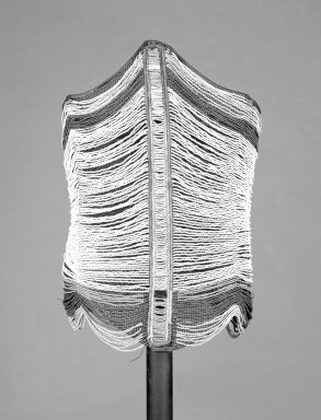 Dinka. Man's Corset, 20th century. Beads, fiber, wire, 18 x 16 in. (45.7 x 40.6 cm). Brooklyn Museum, Carll H. de Silver Fund, 1997.1.1. Creative Commons-BY