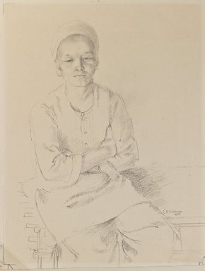 Charles K. Wilkinson. Image of a Young Boy, 1922. Pencil on paper, image: 12 x 9 in. (30.5 x 22.9 cm). Brooklyn Museum, Gift of the executors of the Estate of Irma B. Wilkinson, 1997.109.1