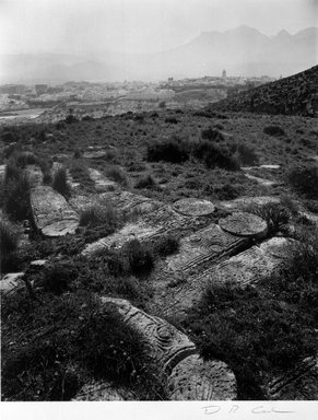 D.R. Cowles (American, born 1950). Jewish Cemetery at Tetuan, Morocco, February 22, 1993. Gold-toned gelatin silver photograph, 9 1/2 x 7 1/2 in. (24.0 x 19.0 cm). Brooklyn Museum, Gift of the artist, 1997.133. © D.R. Cowles