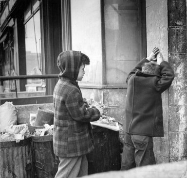 Vivian Cherry (American, born 1920). [Untitled] (Boy with Toy Gun), 1948. Gelatin silver photograph (vintage), 7 1/2 x 7 7/8 in. (19.1 x 20.1 cm). Brooklyn Museum, Gift of Steven Schmidt, 1997.138.2. © Vivian Cherry