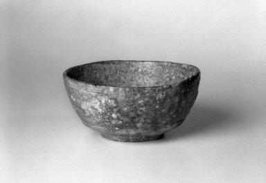 Takahashi Rakusai III (Japanese, 1898-1976). Tea Bowl, Shigaraki Style, ca. 1968. Glazed stoneware, 2 5/8 x 5 9/16 in. (6.8 x 14.2 cm). Brooklyn Museum, Gift of Robert B. Jones, 1997.143.2. Creative Commons-BY