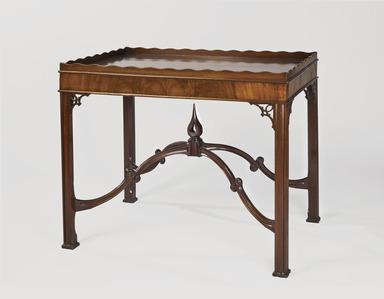 Robert Harrold (American, born England, 18th century). Tray-Top Table, ca. 1770. Mahogany and mahogany veneer, 29 1/4 x 34 1/2 x 23 1/2in. (74.3 x 87.6 x 59.7cm). Brooklyn Museum, Matthew Scott Sloan Collection, Gift of Lidie Lane Sloan McBurney, 1997.150.16. Creative Commons-BY
