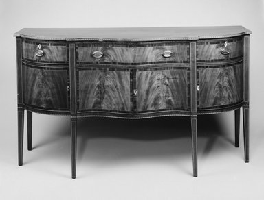 Side Board, ca. 1790. Mahogany, white pine, 40 1/4 x 71 x 26 in.  (102.2 x 180.3 x 66.0 cm). Brooklyn Museum, Matthew Scott Sloan Collection, Gift of Lidie Lane Sloan McBurney, 1997.150.22. Creative Commons-BY