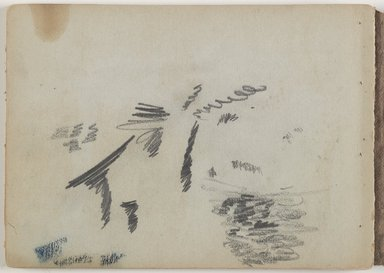 David Johnson (American, 1827-1908). Sketchbook, Conway, New Hampshire, July - October 1851. Graphite, chalk, and opaque watercolor on medium-weight, beige, wove paper, sketchbook, sketchbook: 4 7/8 x 6 3/4 x 5/16 in. (12.4 x 17.1 x 0.8 cm). Brooklyn Museum, Gift of Blair Effron, 1997.157