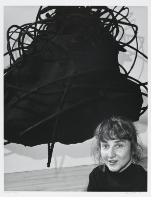 Arthur Mones (American, 1919-1998). Petah Coyne (Sculpture), 1989. Gelatin silver photograph on fiber based paper, sheet: 14 x 10 3/4 in. (35.6 x 27.2 cm). Brooklyn Museum, Gift of the artist, 1997.162.10. © Estate of Arthur Mones
