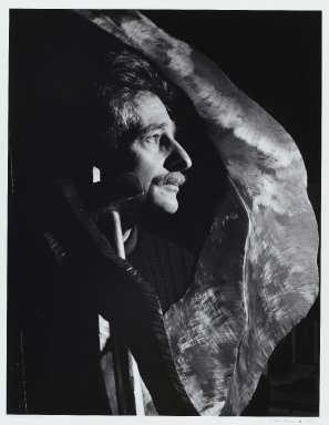 Arthur Mones (American, 1919-1998). Lawrence Fanes, 1988. Gelatin silver photograph on fiber based paper, sheet: 14 x 10 3/4 in. (35.6 x 27.2 cm). Brooklyn Museum, Gift of the artist, 1997.162.6. © Estate of Arthur Mones