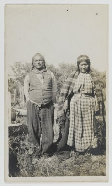 American. [Untitled] (Two Standing Women), ca. 1900. Gelatin silver photograph, 5 1/4 x 3 1/2 in. (13.3 x 8.9 cm). Brooklyn Museum, Gift of Sasha Nyary and Family, 1997.163.13