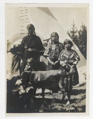 Unknown. [Untitled] (Cowboy with Three Horses), ca. 1900. Gelatin silver photograph, 5 1/4 x 3 1/8 in. (13.3 x 8.0 cm). Brooklyn Museum, Gift of Sasha Nyary and Family, 1997.163.18
