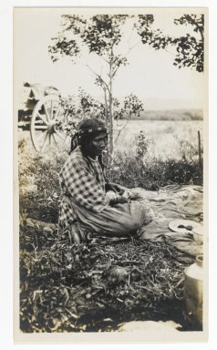 American. [Untitled] (Seated Woman), ca. 1900. Gelatin silver photograph, 5 1/4 x 3 1/8 in. (13.3 x 8.0 cm). Brooklyn Museum, Gift of Sasha Nyary and Family, 1997.163.20