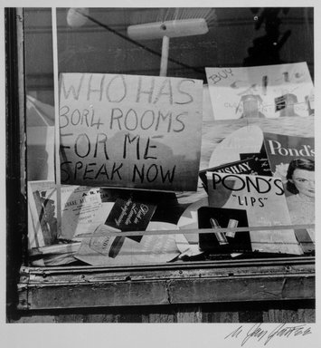 Brooklyn Museum: Who Has Three or Four Rooms (Brownsville), from the series An Era Past: Photographs of Brownsville and East New York, Brooklyn