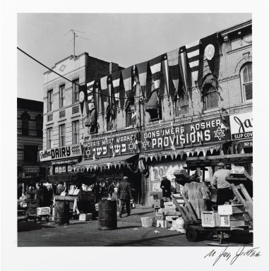 Brooklyn Museum: Morris Meat Market (Blake Avenue), from the series An Era Past: Photographs of Brownsville and East New York, Brooklyn