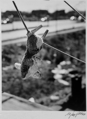 N. Jay Jaffee (American, 1921-1999). Anna's Teddy Bear (Logan Street, Linden Boulevard, East New York), 1952; printed 1995. Selenium-toned gelatin silver photograph on Ilford Galerie FB paper, sheet: 8 x 10 in. (20.3 x 25.4 cm). Brooklyn Museum, Gift of Paula W. Hackeling, 1997.164.29. © The N. Jay Jaffee Trust