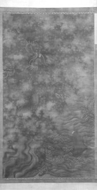 Carp Passing the Dragon Gate, 1368 - 1644 (possibly). Ink and color on silk, overall: 110 1/2 x 39 3/4 in., 44 in. with rollers. Brooklyn Museum, Gift of the C. C. Wang Family Collection, 1997.185.10