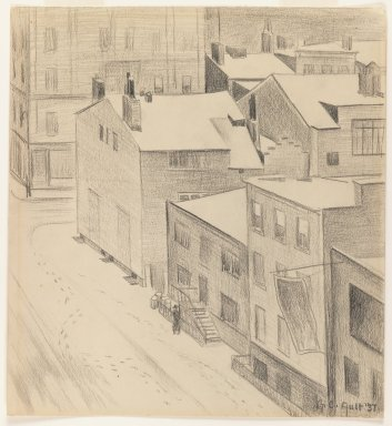 Brooklyn Museum: Commerce Street, Greenwich Village