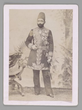 The Persian Prime Minister Sadr a'zam Amin al-Soltan,  One of 274 Vintage Photographs, late 19th-early 20th century. Gelatin silver printing out paper, Photo:  8 1/2 x 5 15/16 in.  (21.6 x 15.1 cm);. Brooklyn Museum, Purchase gift of Leona Soudavar in memory of Ahmad Soudavar, 1997.3.120