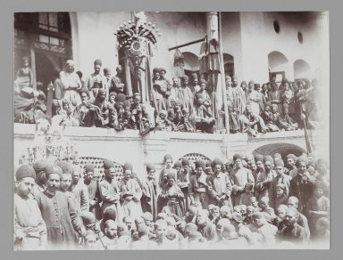 Audience for a Religious Performance, One of 274 Vintage Photographs, late 19th-early 20th century. Gelatin silver printing out paper, 4 7/8 x 6 3/8 in.  (12.4 x 16.2 cm). Brooklyn Museum, Purchase gift of Leona Soudavar in memory of Ahmad Soudavar, 1997.3.133