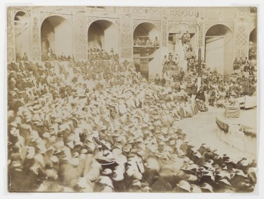 Women Attending a Ta'ziyeh Performance, One of 274 Vintage Photographs, Late 19th century. Albumen silver photograph, 7 1/8 x 9 9/16 in.  (18.1 x 24.3 cm). Brooklyn Museum, Purchase gift of Leona Soudavar in memory of Ahmad Soudavar, 1997.3.134