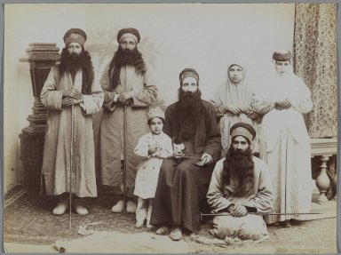 A Family of Dervishes, late 19th-early 20th century. Albumen silver photograph, 6 1/8 x 8 3/16 in.  (15.6 x 20.8 cm). Brooklyn Museum, Purchase gift of Leona Soudavar in memory of Ahmad Soudavar, 1997.3.139