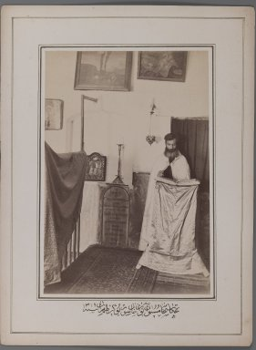 A Christian Priest II,  One of 274 Vintage Photographs, late 19th-early 20th century. Albumen silver photograph, photo:  9 3/16 x 6 5/8 in.  (23.3 x 16.8 cm);. Brooklyn Museum, Purchase gift of Leona Soudavar in memory of Ahmad Soudavar, 1997.3.183
