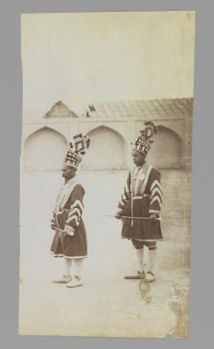 "Royal Footmen Known as ""Chaters"", One of 274 Vintage Photographs, late 19th-early 20th century. Albumen silver photograph, 8 7/16 x 4 1/2 in.  (21.4 x 11.4 cm). Brooklyn Museum, Purchase gift of Leona Soudavar in memory of Ahmad Soudavar, 1997.3.224"
